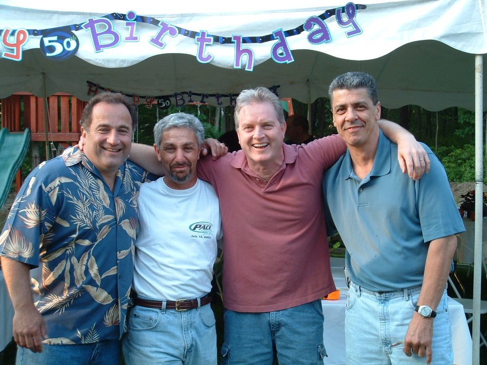 John Surprised Me At My 50th Birthday Party Cant Believe It Was 14 Years Ago Pictured From Left To Right Bruce Bender Mark Negrotto Tyrone Clipper